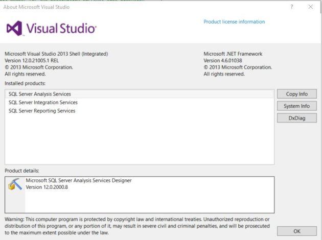 SSDT_VS2013_Version_Info