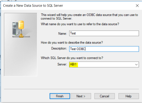 ODBC data source 2