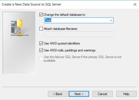 ODBC data source 3