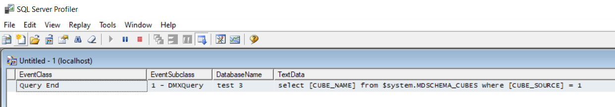 Query Profiler With One Empty Scripted database and AdventureWorks added